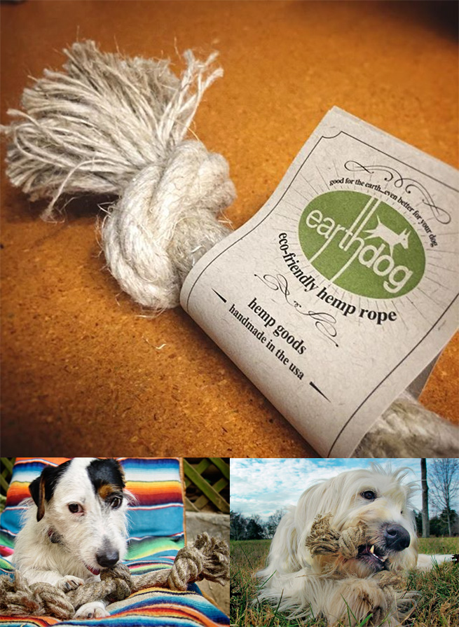 hemp dog toy