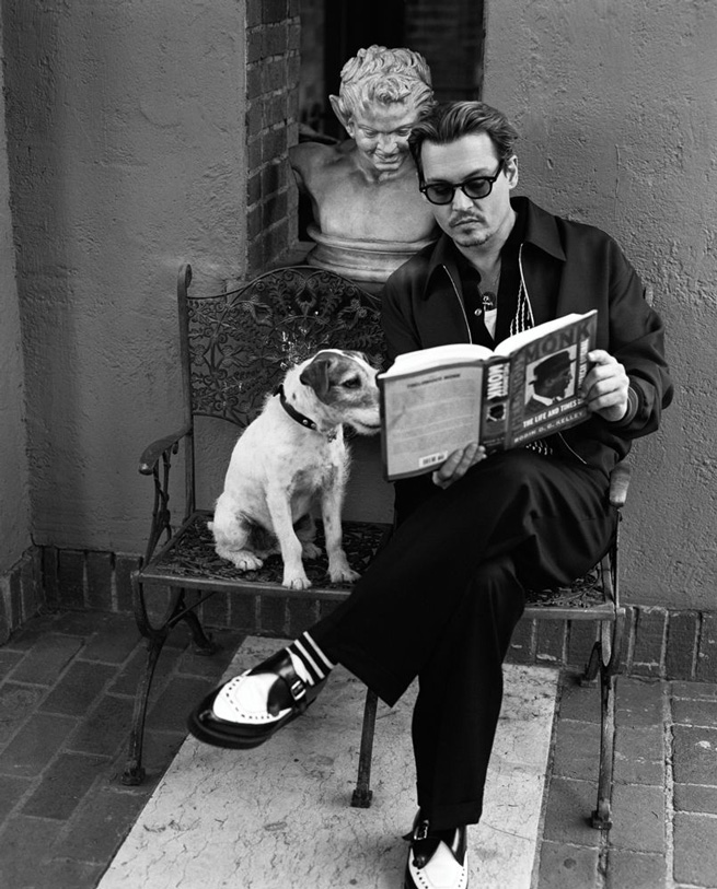 johnny depp and dog